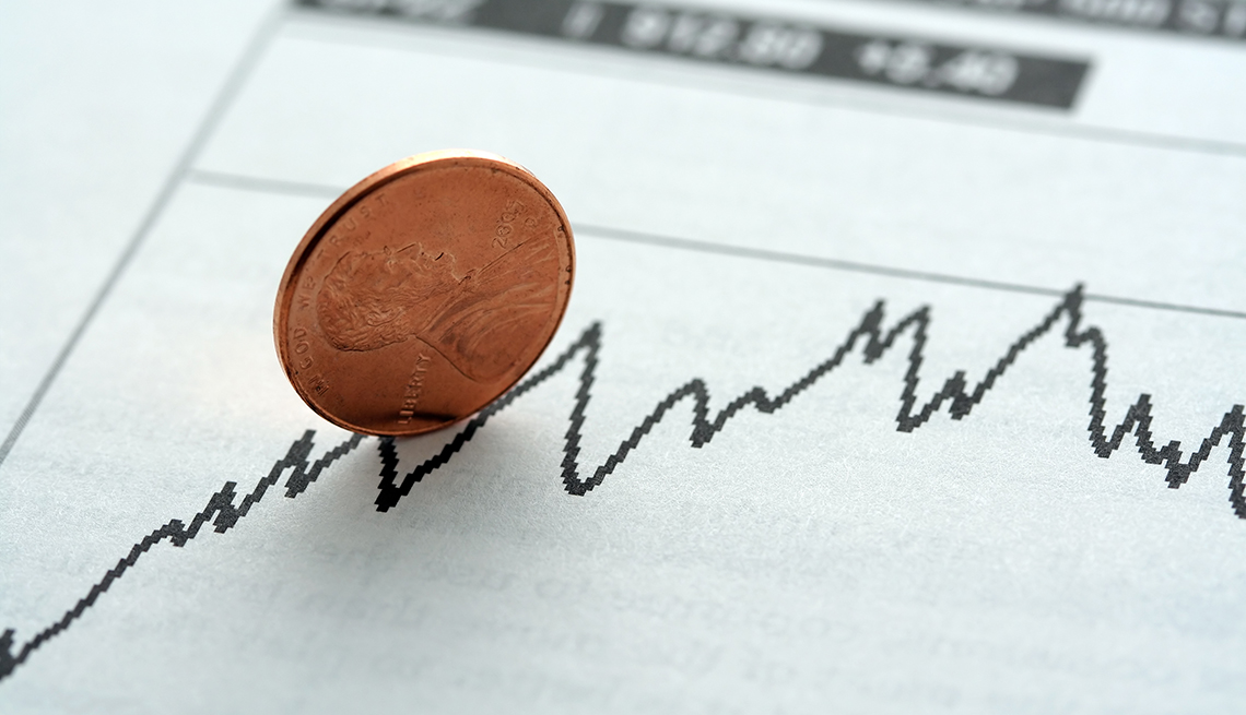item 12 of Gallery image - Penny on a stock graph