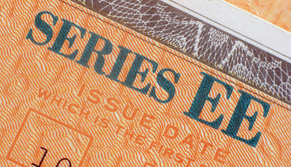 U.S. EE savings bond closeup