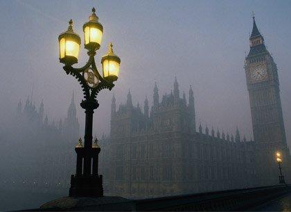 Una noche nublosa en Londres