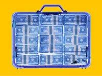 Una maleta llena de dinero en efectivo - Estafas de propiedad no reclamada