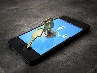 Teléfono inteligente con un bloqueo de seguridad - Proteja su teléfono inteligente