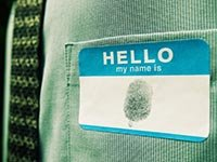 identity theft prevention fingerprint hello my name is sticker shirt