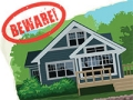 'BEWARE' stamped on a Lakefront Vacation Rental Advertisement, Scam Alert: Vacation scams