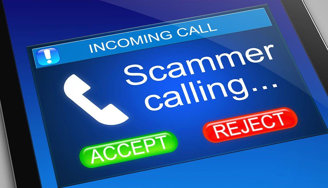 IRS scam agent calling