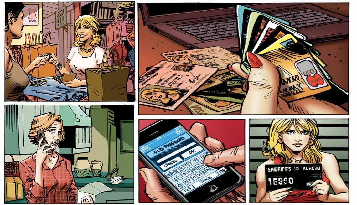 Illustration Showing an Identity Thief, Consumer Protection