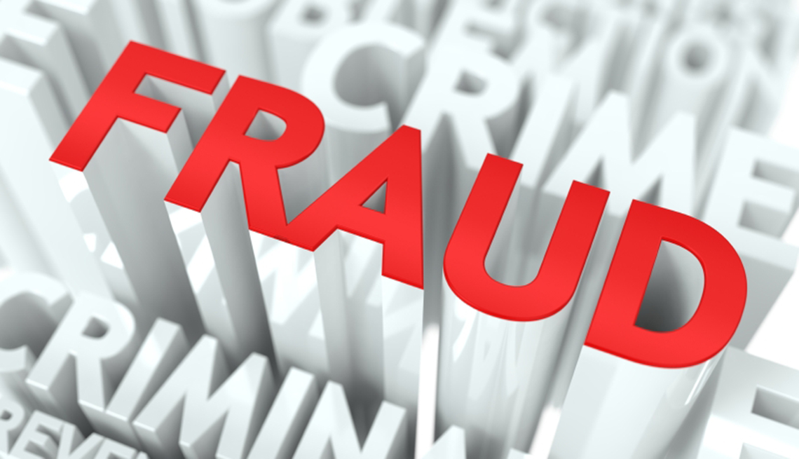 Formas de protegerte contra el robo de identidad - La palabra Fraude, crimen en inglés