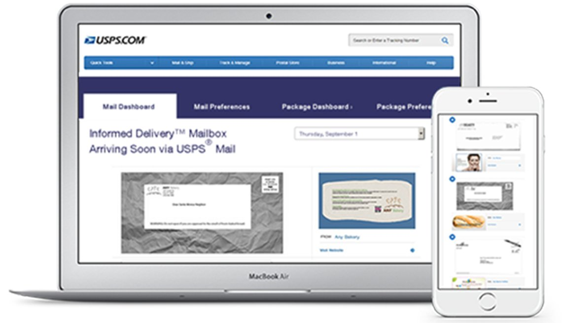 Informed delivery from the USPS , New Postal Service Tool Can Help Fight Fraud