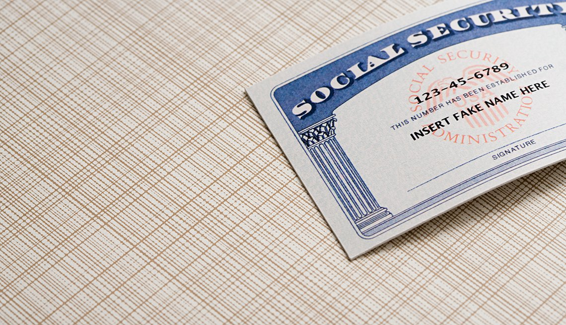 """Social Security card with """"Insert fake name here"""" on it"""