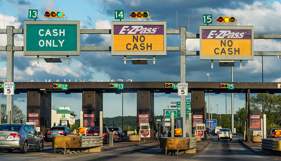 item 13 of Gallery image - Cars at a toll booth