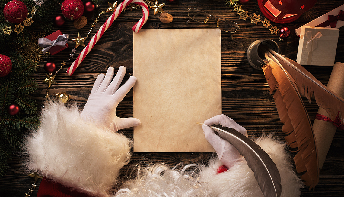 Santa Claus writing a letter