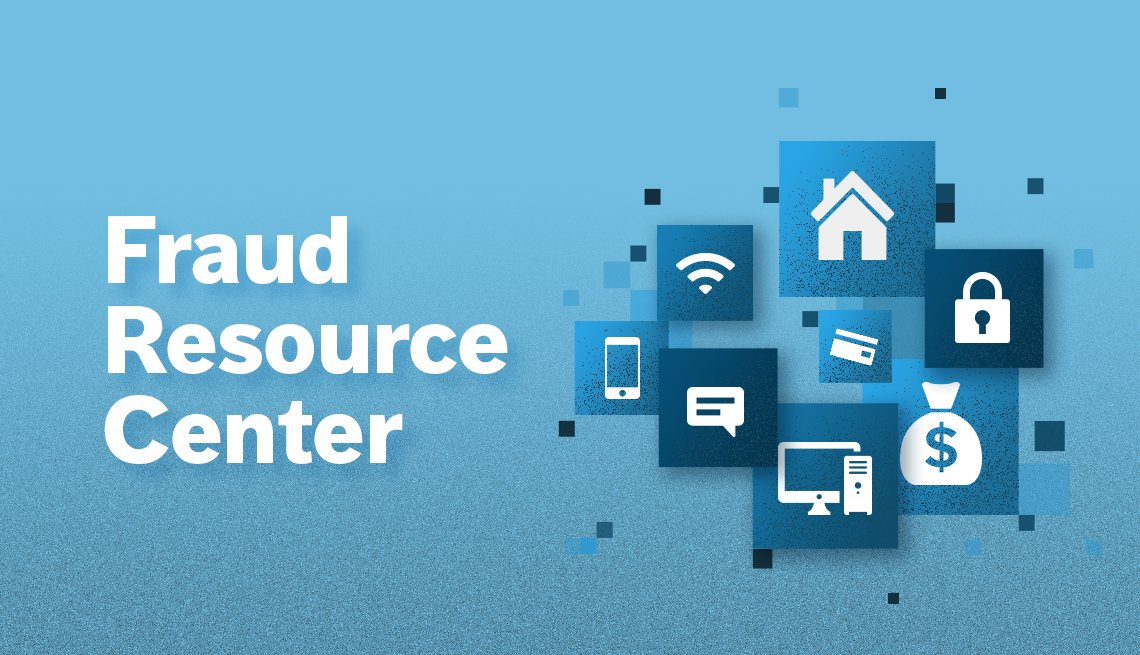 Fraud Resource Center blue promo