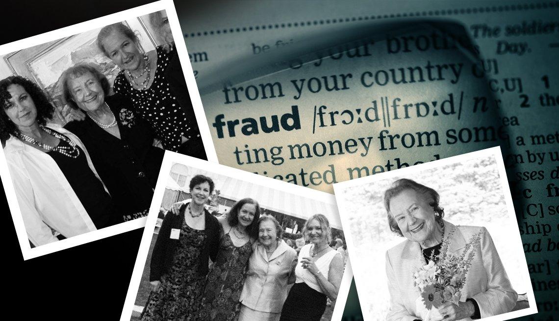 Montaje con fotos de Valerie Hill y sus hijas Suzanne Hill, Melanie Preston, y Alison Hill