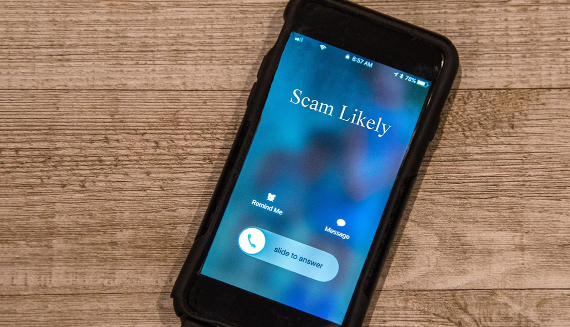 Cell phone warns of possible scam call