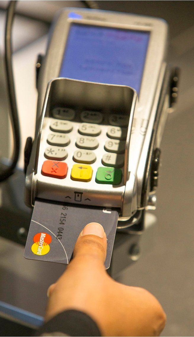 Mastercard's introduces a fingerprint credit card that requires the scans the user's finger for before issuing a payment.