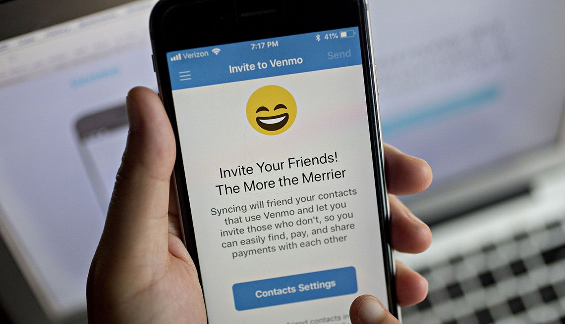 The Paypal Holdings Inc. Venmo application is displayed on an Apple Iphone