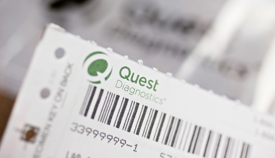 A Quest Diagnostics Inc. requisition form