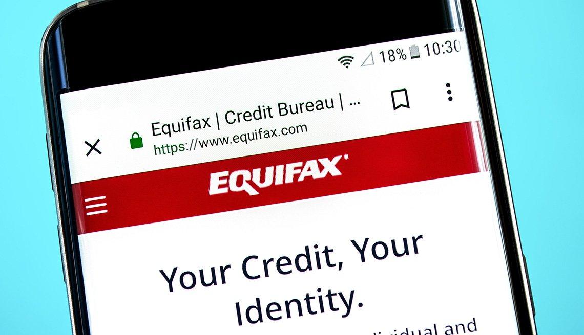 Equifax website illustration on mobile