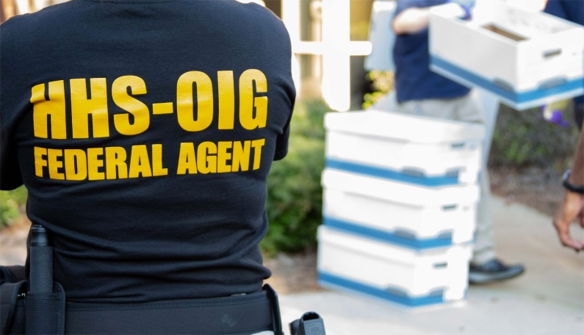 HHS-OIG Federal agent investigating a dna testing scam