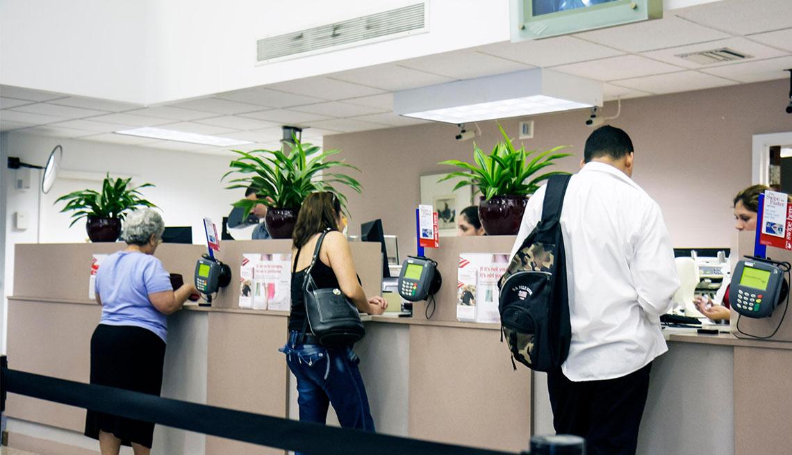 three customers at Bank of America