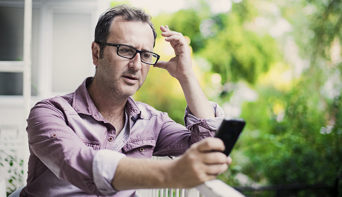 Man answering a phone call