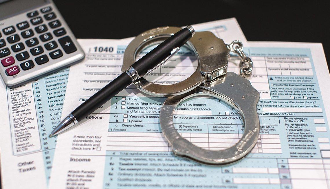 Esposas sobre formulario 1040 del IRS.