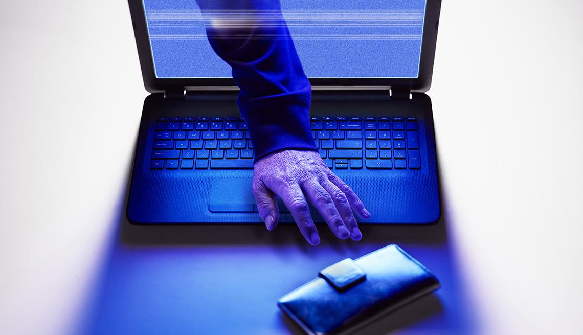 Cybercrime, identity theft concept