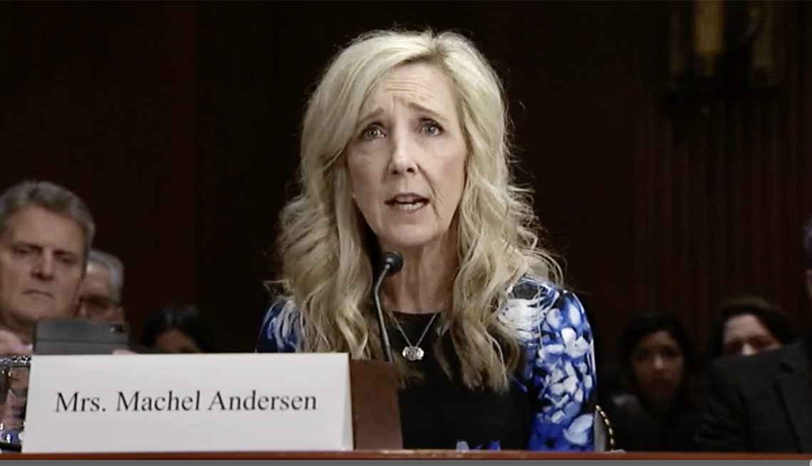 Machel Andersen at the Senate Aging Commitee