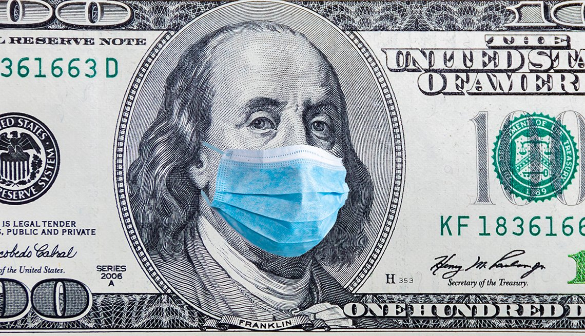 Money and virus - the cost of epidemic protection concept