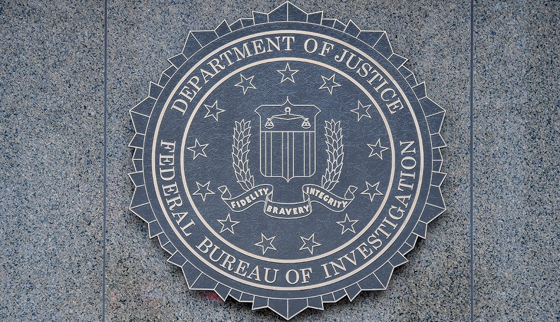 Close-up of the seal of the Federal Bureau of Investigation (FBI) of the wall of J Edgar Hoover FBI Building, Washington DC, January 21, 2017. (Photo by Mark Reinstein/Corbis via Getty Images)