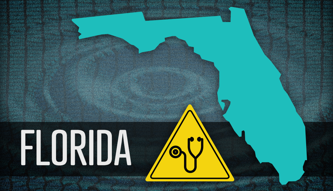 item 5 of Gallery image - map of florida and warning sign about medicare fraud