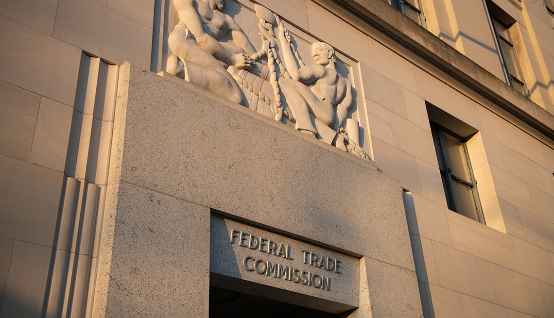 A general view of the Federal Trade Commission (FTC) building amid the ongoing COVID-19 pandemic