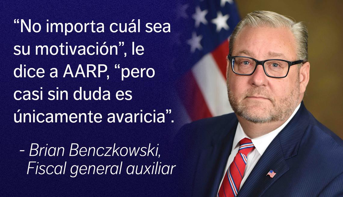 Brian Benczkowski, Fiscal general auxiliar al lado de la cita, no importa cuál sea su motivación, pero casi sin duda es únicamente avaricia.