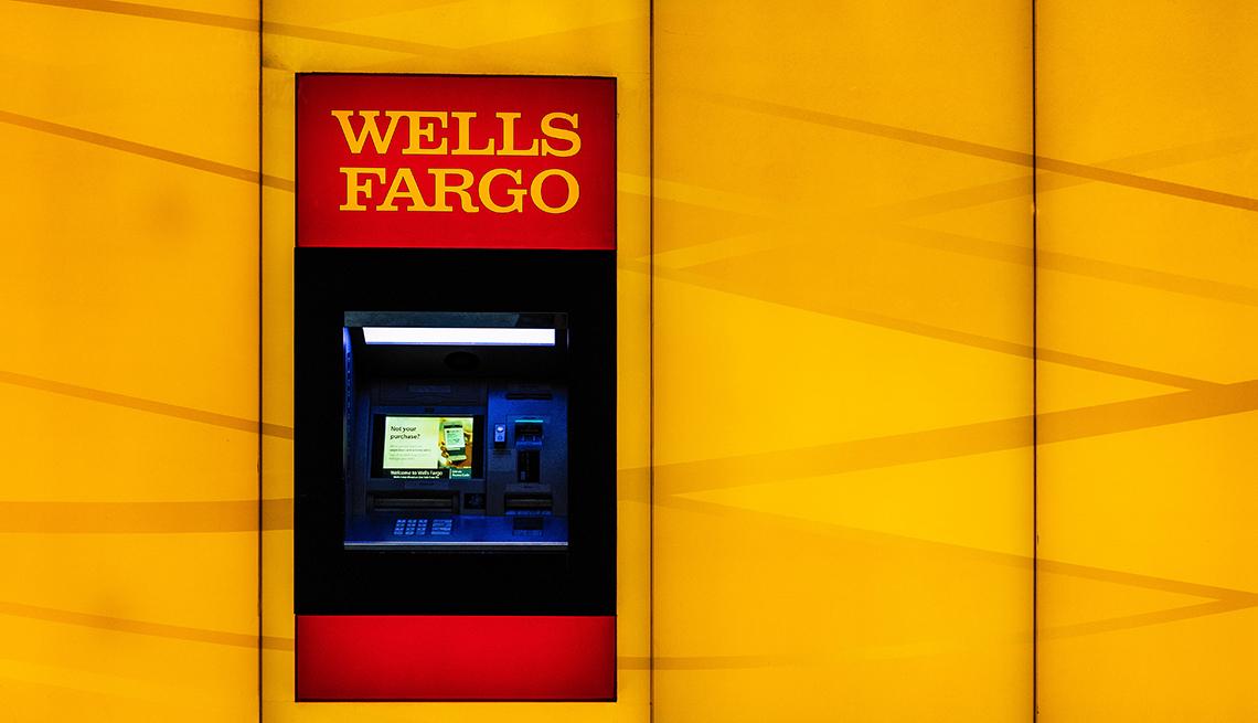 Cajero automático de Wells Fargo, Charlotte, Carolina del Norte, EE.UU.