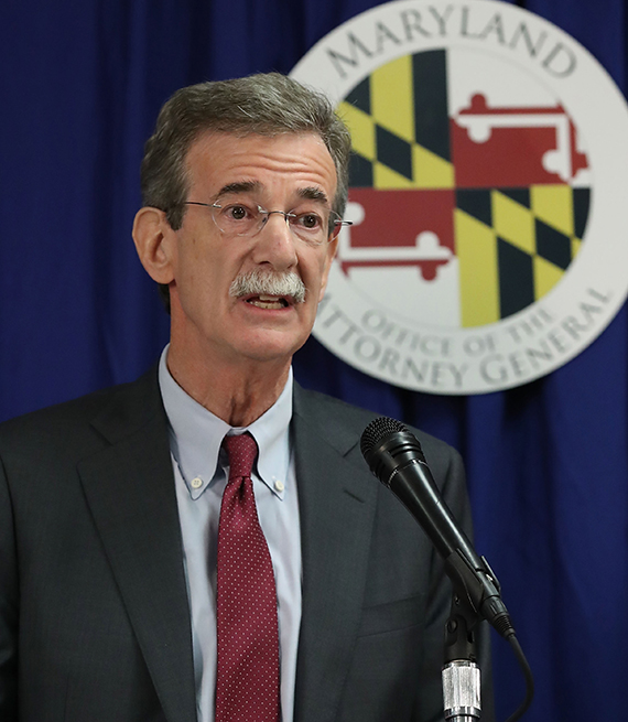 Maryland Attorney General Brian Frosh speaks to the media