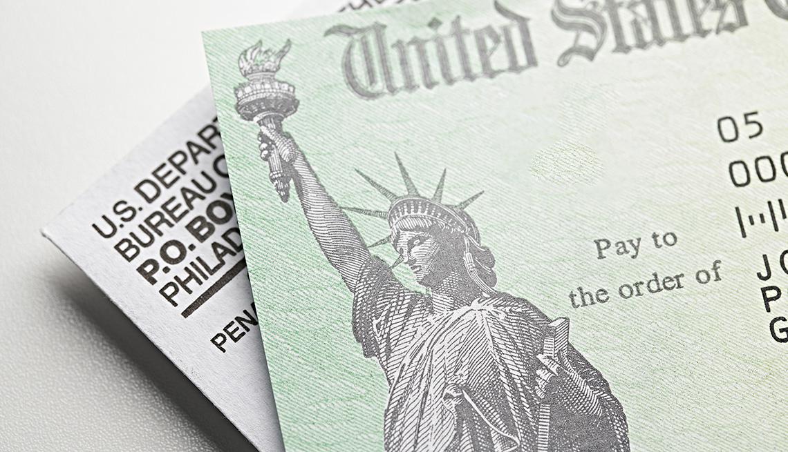 Cheque de estímulo del Departamento del Tesoro de EE.UU.