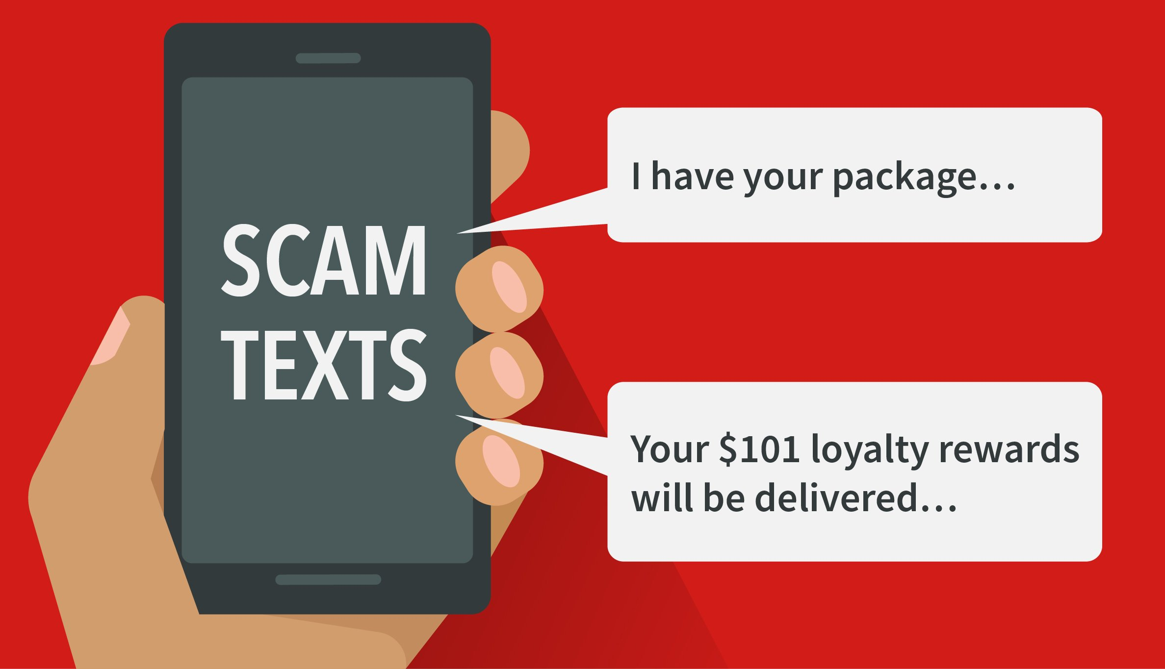 Scam Text message graphic