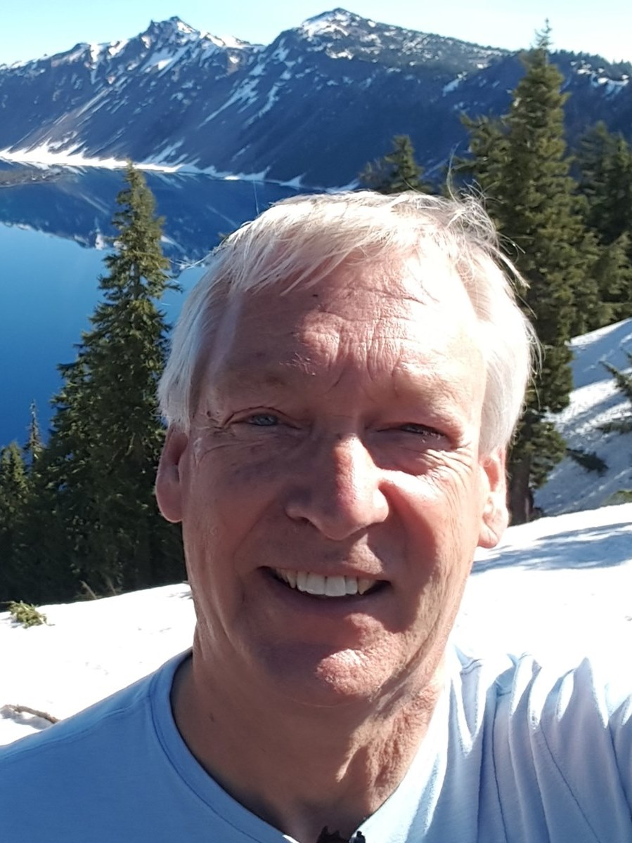 Steve Larson in the mountains