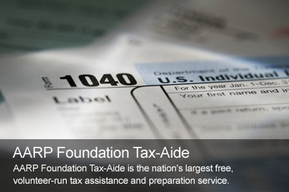 AARP Tax Aide. Free tax preparation, free tax help.