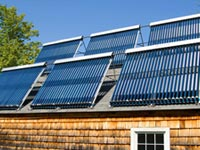 Solar panels on a roof - a possible tax credit for 2012.