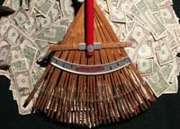 raking in money-IRS Tax Refund Checks