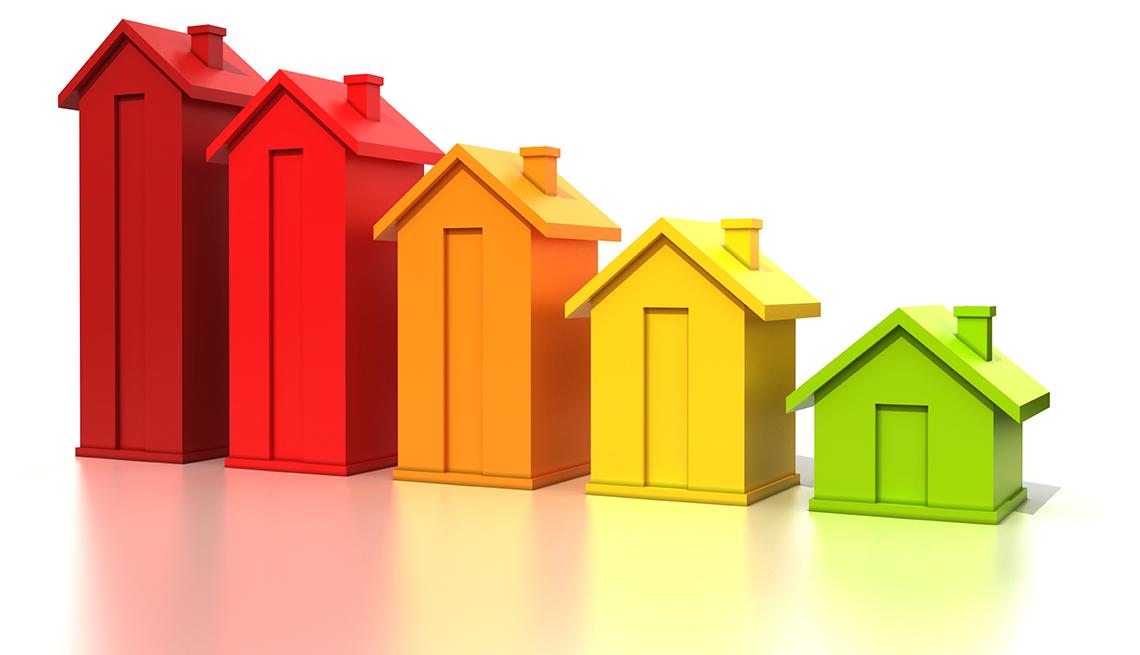 Gráfico de casas de colores