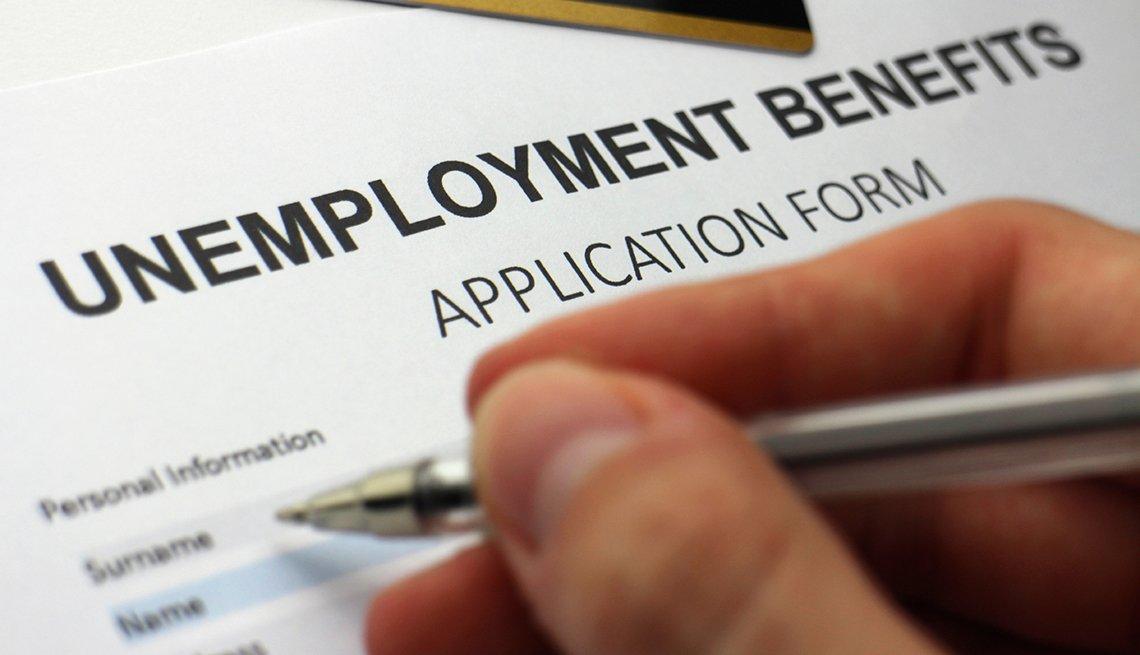 Una forma de beneficios de desempleo