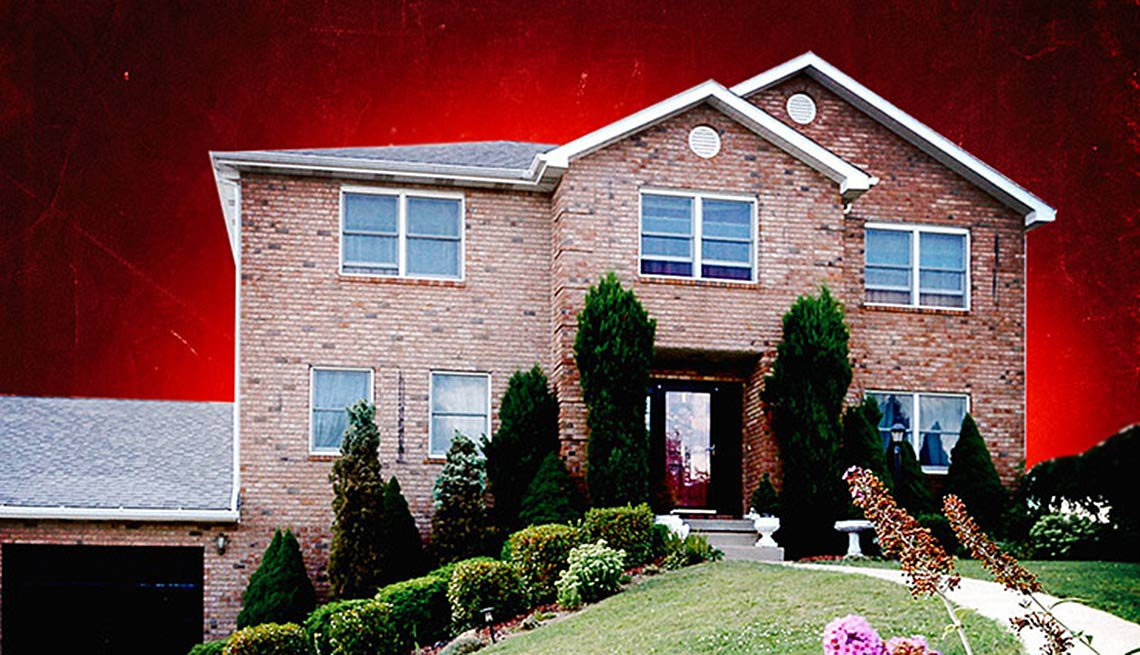 Foto de la casa de una viuda que casi pierde su hogar por un pago tardío y que AARP le ayudó a recuperar