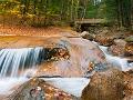 El bello paisaje del Franconia Notch State Park en Nuevo Hampshire.