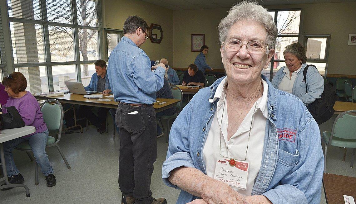 AARP Tax Aide volunteer Charlene Gardner seen in a 2016 photo