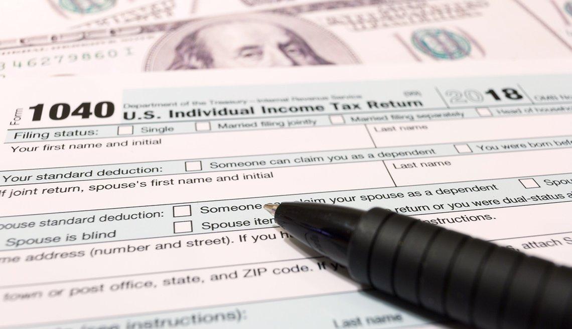 Formulario 1040 del IRS