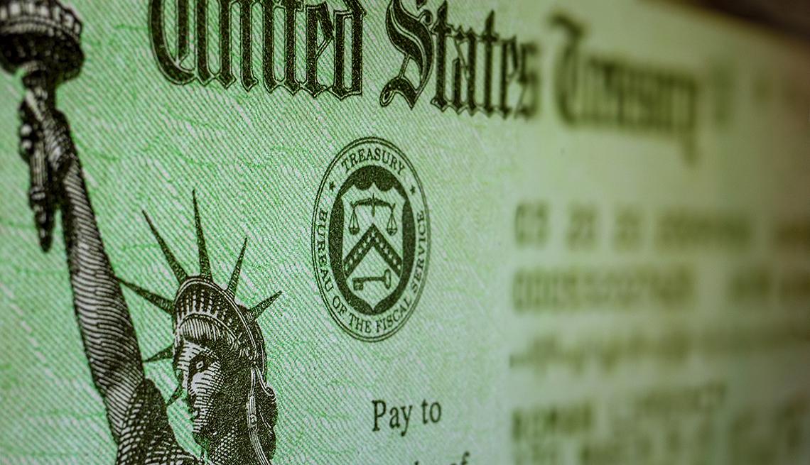 Cheque del Departamento del Tesoro de los Estados Unidos