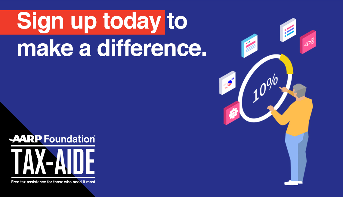 sign up with tax aide today to make a difference