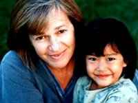 Jenny Bowen, founder of Half the Sky, with her daughter, who she adopted from China.
