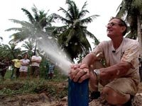 Ken Wood helps build wells that provide fresh, clean water to villages in Ghana